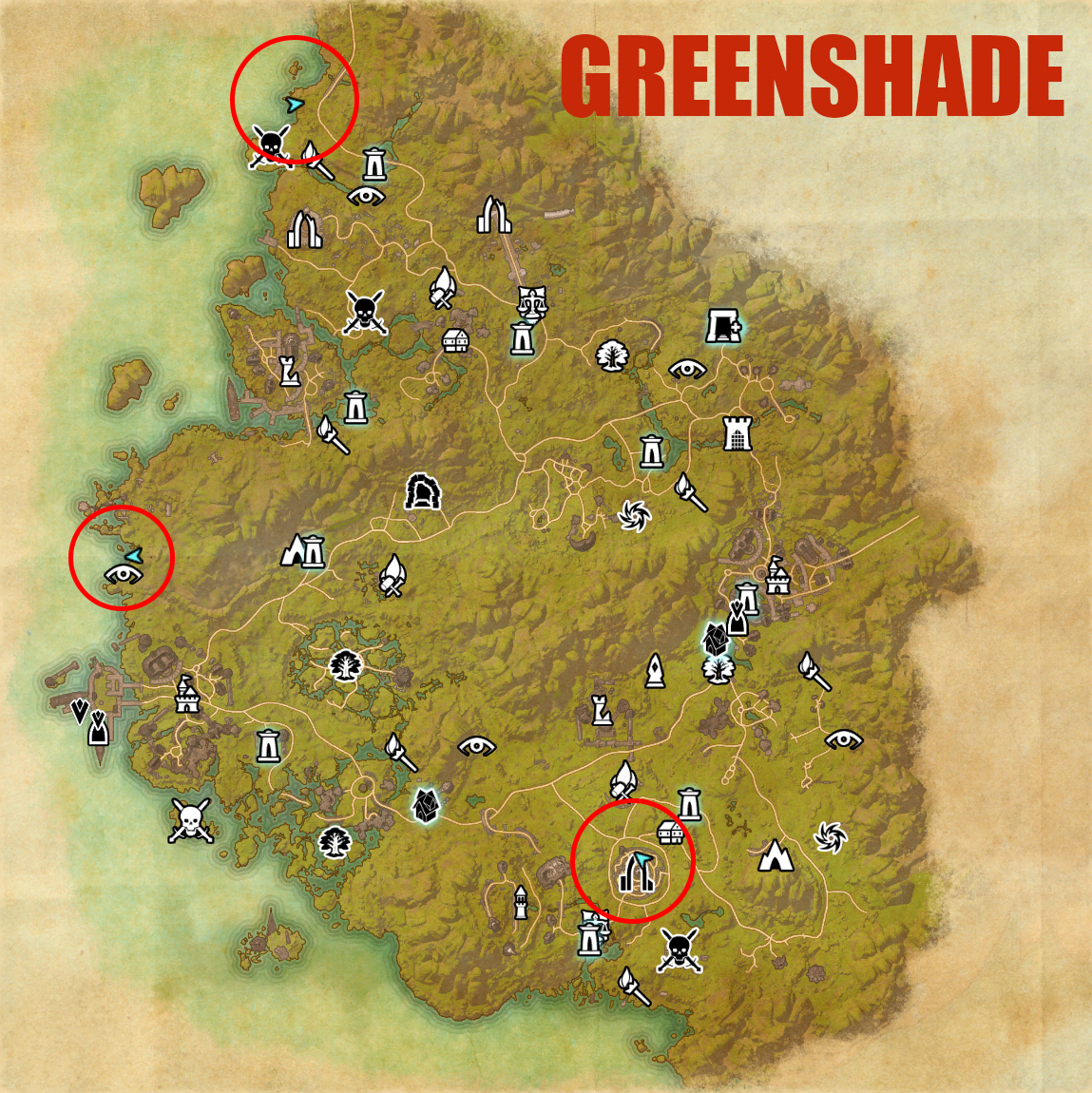 Greenshade map