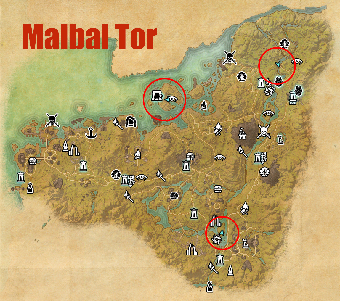 Malbal Tor map